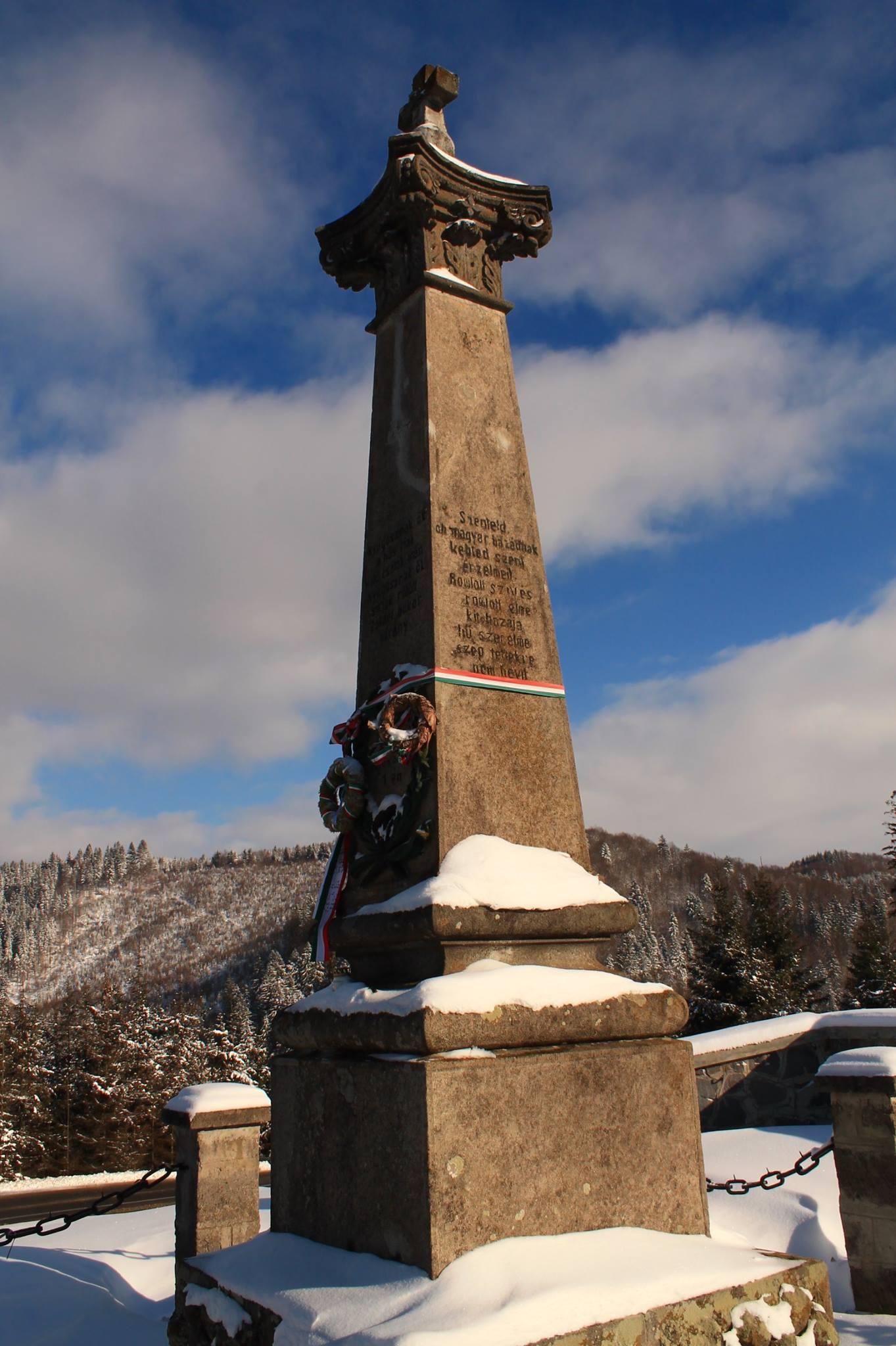 Nyerges-tető, emlékmű (Erdély)