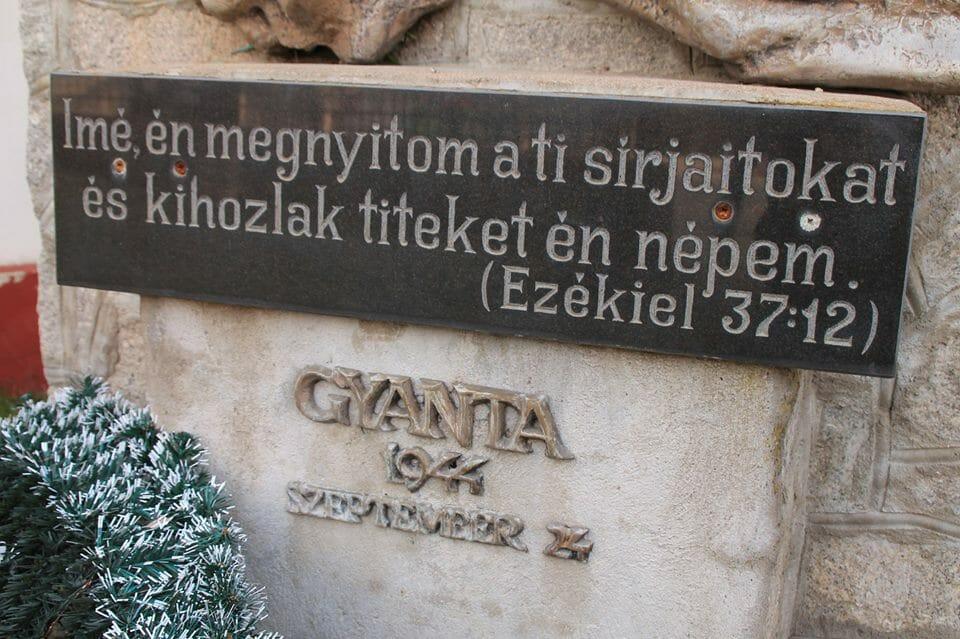 Gyanta, emlékmű (Erdély)