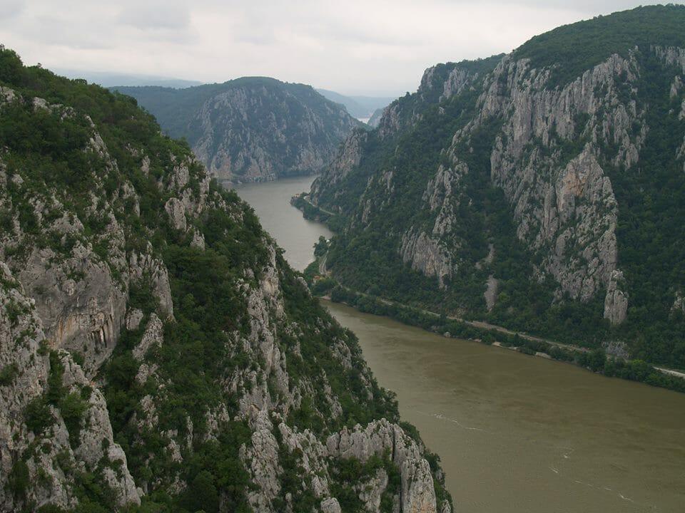 A Kazán-szoros, ahol a Duna elhagyja a Kárpát-medencét