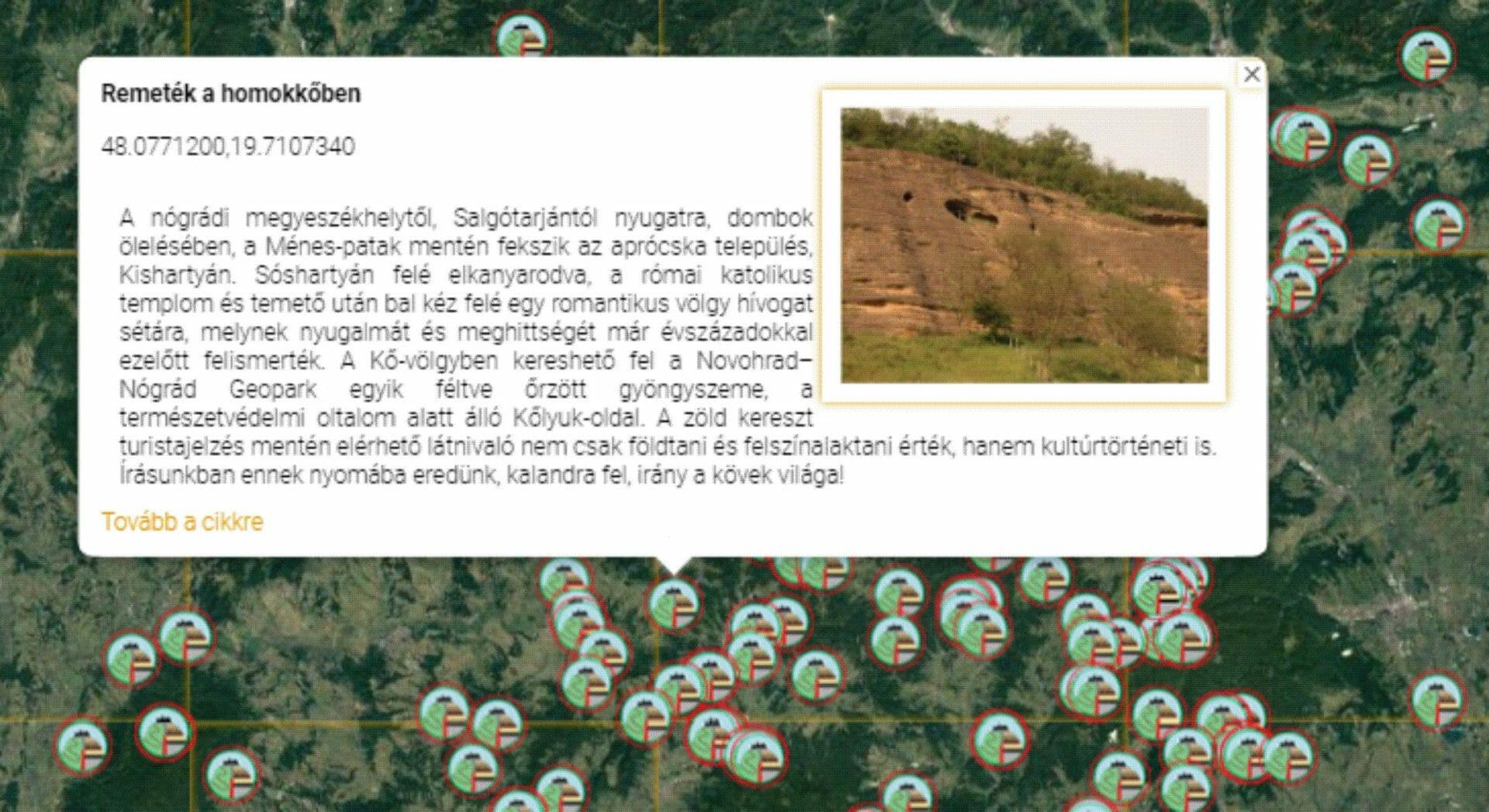 """Új térképi adatbázis """"A kövek mesélnek"""" oldalon"""
